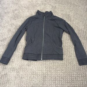 Lululemon heathered black zip up jacket 8